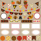 Thanksgiving bunting clipart Royalty Free Stock Image