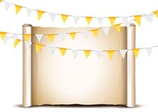 Thanksgiving bunting flags. Holiday decorations. Stock Photos