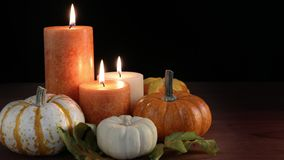 Thanksgiving Candles stock footage