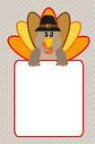 Thanksgiving card. Thanksgiving illustration card with turkey and blank space Stock Photos
