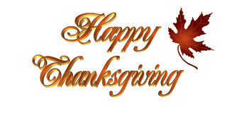 Thanksgiving card 3D text Stock Images