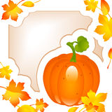 Thanksgiving card. autumn background Royalty Free Stock Photos