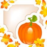 Thanksgiving card. autumn background Royalty Free Stock Photos
