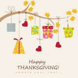 Thanksgiving card Royalty Free Stock Photos