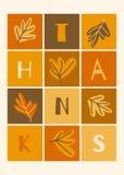 Thanksgiving Card Design royalty free illustration