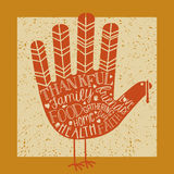 Thanksgiving card design Stock Photo