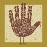Thanksgiving card design Royalty Free Stock Photo