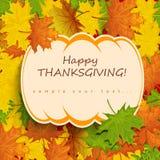 Thanksgiving card Stock Image