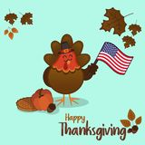 Thanksgiving day turkey illustration Royalty Free Stock Photos