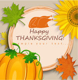 Thanksgiving card Royalty Free Stock Image