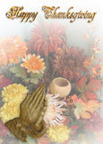 Thanksgiving Card praying hands Stock Photo