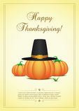 Thanksgiving card with pumpkins Stock Photos