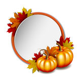 Thanksgiving card with pumpkins Royalty Free Stock Photo