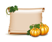 Thanksgiving card with pumpkins Royalty Free Stock Photos