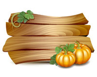 Thanksgiving card with pumpkins Stock Photos