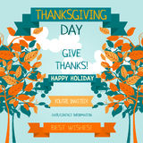 Thanksgiving card template Stock Image