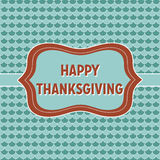 Thanksgiving card Stock Photography