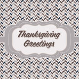 Thanksgiving card Royalty Free Stock Photos