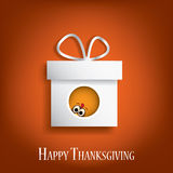 Thanksgiving card vector design with traditional Stock Image