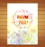 Thanksgiving card. Watercolor flower background Stock Photography