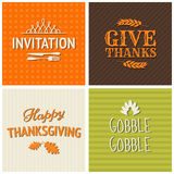 Thanksgiving Cards Collection stock illustration