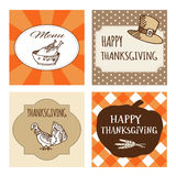 Thanksgiving cards, invitations,  frames Stock Images