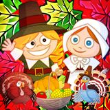 Thanksgiving cartoon illustration Royalty Free Stock Images