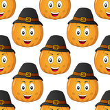 Thanksgiving Cartoon Pumpkin Seamless Royalty Free Stock Image