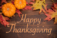 Thanksgiving Celebration - Autumn leaves and pumpkins Royalty Free Stock Photo