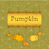 Thanksgiving celebration banner design with pumpkins Royalty Free Stock Image