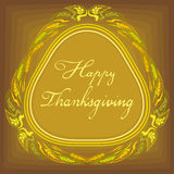 Thanksgiving celebration banner with ears of wheat Stock Photo