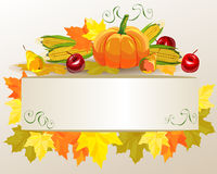 Thanksgiving celebration banner . Vector Royalty Free Stock Images