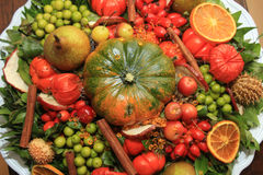 Thanksgiving center piece Stock Image