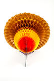 Thanksgiving Centerpiece. A turkey centerpiece for Thanksgiving against a white background Stock Images