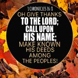Thanksgiving 1 Chronicles 16:8