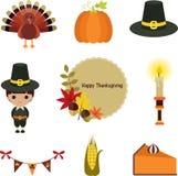 Thanksgiving Clip-art Set. Stock Photography
