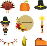 Thanksgiving clip-art set. Stock Photography
