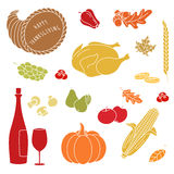 Thanksgiving colorful elements. Stock Images