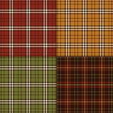 Thanksgiving colors plaids. Background patterns stock illustration