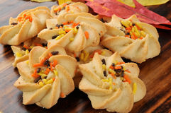 Thanksgiving cookies Royalty Free Stock Photos