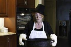 Thanksgiving cooking disaster Stock Image