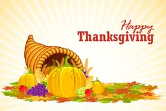 Thanksgiving Cornucopia Stock Photography