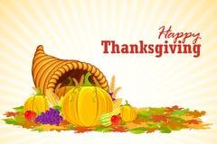 Thanksgiving Cornucopia. Vector illustration of vegetable cornucopia for Thanksgiving Stock Photography