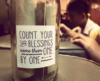 Thanksgiving. Count your blessings name them one by one stock image