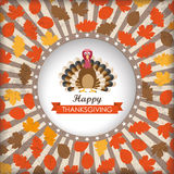 Thanksgiving Cover Stripes Hole Turkey Stock Images