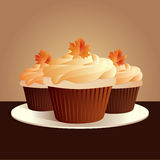 Thanksgiving cupcakes Royalty Free Stock Photo
