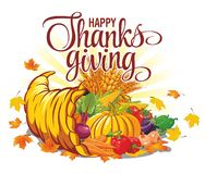 Thanksgiving Day autumn harvest royalty free illustration