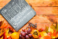 Thanksgiving day, autumn leaves background stock image