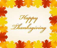 Thanksgiving day background. Background of Thanksgiving day with border of leaves Stock Image