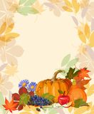 Thanksgiving day background. Thanksgiving party poster with bright background. Harvest festival Royalty Free Stock Photography